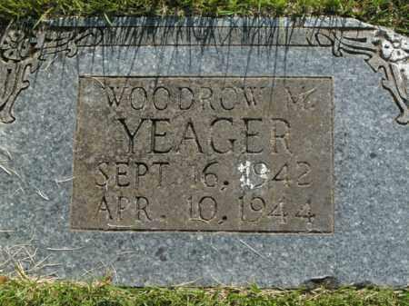 YEAGER, WOODROW M. - Boone County, Arkansas   WOODROW M. YEAGER - Arkansas Gravestone Photos