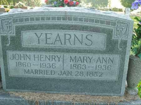 YEARNS, JOHN HENRY - Boone County, Arkansas | JOHN HENRY YEARNS - Arkansas Gravestone Photos