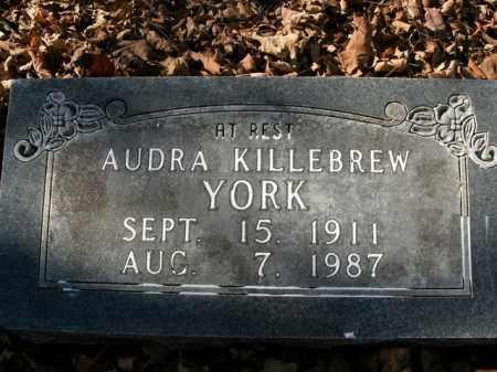 KILLEBREW YORK, AUDRA - Boone County, Arkansas | AUDRA KILLEBREW YORK - Arkansas Gravestone Photos