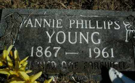 PHILLIPS YOUNG, ANNIE - Boone County, Arkansas | ANNIE PHILLIPS YOUNG - Arkansas Gravestone Photos
