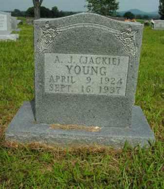 "YOUNG, A.J. ""JACKIE"" - Boone County, Arkansas | A.J. ""JACKIE"" YOUNG - Arkansas Gravestone Photos"