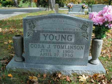 TOMLINSON YOUNG, CORA J. - Boone County, Arkansas | CORA J. TOMLINSON YOUNG - Arkansas Gravestone Photos