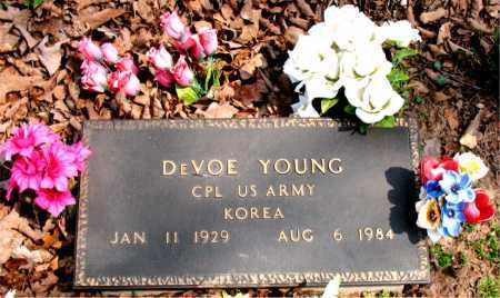 YOUNG  (VETERAN KOR), DEVOE - Boone County, Arkansas   DEVOE YOUNG  (VETERAN KOR) - Arkansas Gravestone Photos