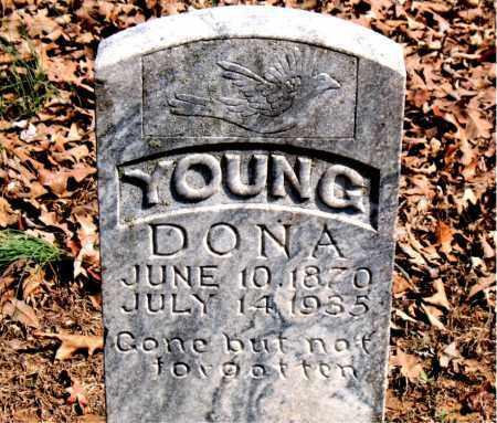 YOUNG, DONA - Boone County, Arkansas | DONA YOUNG - Arkansas Gravestone Photos