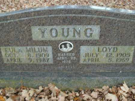 MILUM YOUNG, EULA - Boone County, Arkansas   EULA MILUM YOUNG - Arkansas Gravestone Photos
