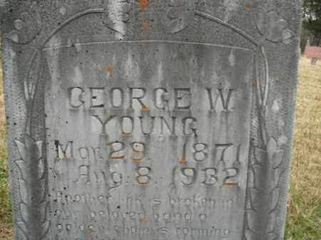 YOUNG, GEORGE W. - Boone County, Arkansas | GEORGE W. YOUNG - Arkansas Gravestone Photos