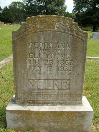 YOUNG, GEORGIANA - Boone County, Arkansas | GEORGIANA YOUNG - Arkansas Gravestone Photos