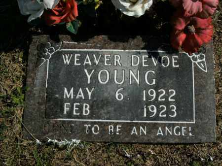 YOUNG, WEAVER DEVOE - Boone County, Arkansas | WEAVER DEVOE YOUNG - Arkansas Gravestone Photos
