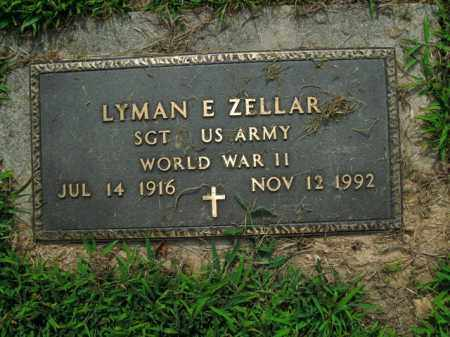ZELLAR  (VETERAN WWII), LYMAN E. - Boone County, Arkansas | LYMAN E. ZELLAR  (VETERAN WWII) - Arkansas Gravestone Photos