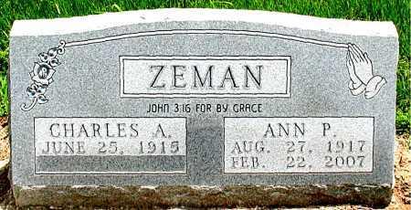 ZEMAN, ANN PATTER - Boone County, Arkansas | ANN PATTER ZEMAN - Arkansas Gravestone Photos