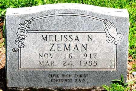 ZEMAN, MELISSA N - Boone County, Arkansas | MELISSA N ZEMAN - Arkansas Gravestone Photos