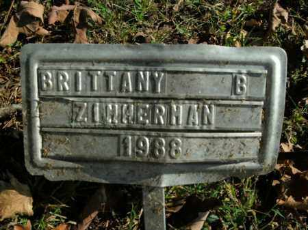 ZIMMERMAN, BRITTANY B. - Boone County, Arkansas | BRITTANY B. ZIMMERMAN - Arkansas Gravestone Photos