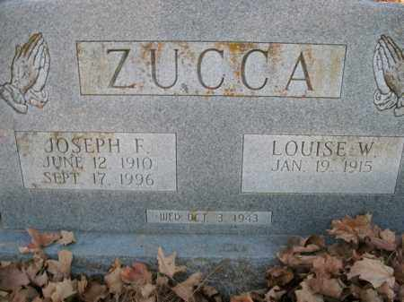 ZUCCA, LOUISE W. - Boone County, Arkansas   LOUISE W. ZUCCA - Arkansas Gravestone Photos