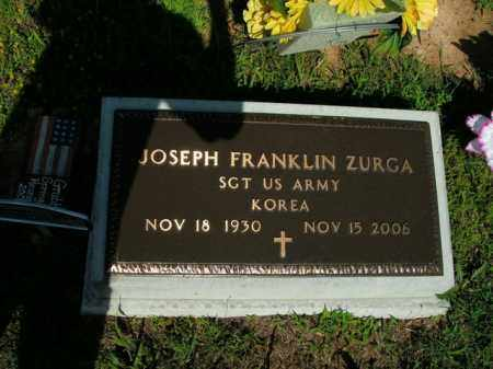 ZURGA  (VETERAN KOR), JOSEPH FRANKLIN - Boone County, Arkansas | JOSEPH FRANKLIN ZURGA  (VETERAN KOR) - Arkansas Gravestone Photos