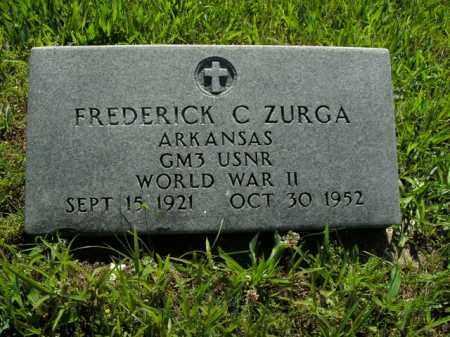 ZURGA  (VETERAN WWII), FREDERICK C. - Boone County, Arkansas | FREDERICK C. ZURGA  (VETERAN WWII) - Arkansas Gravestone Photos
