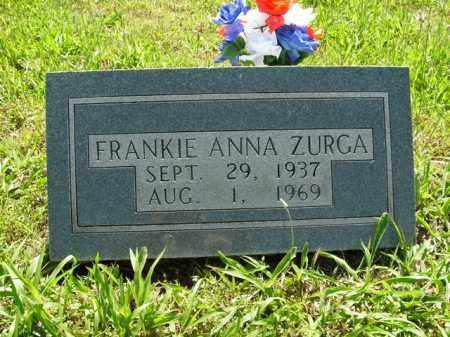 ZURGA, FRANKIE ANNA - Boone County, Arkansas   FRANKIE ANNA ZURGA - Arkansas Gravestone Photos