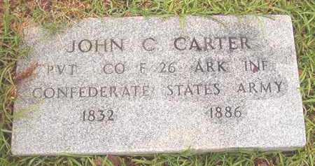 CARTER (VETERAN CSA), JOHN C - Bradley County, Arkansas   JOHN C CARTER (VETERAN CSA) - Arkansas Gravestone Photos