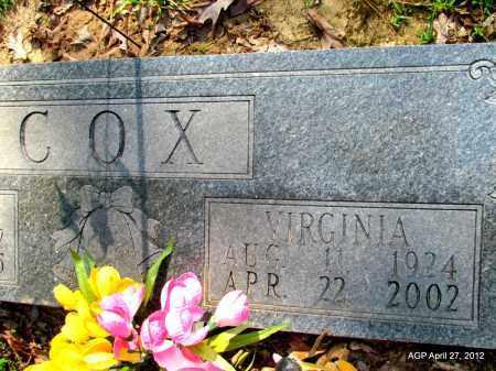 COX, VIRGINIA - Bradley County, Arkansas   VIRGINIA COX - Arkansas Gravestone Photos