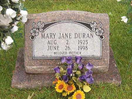 DURAN, MARY JANE - Bradley County, Arkansas | MARY JANE DURAN - Arkansas Gravestone Photos