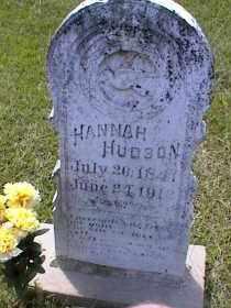 EVANS HUDSON, HANNAH ROSEANNA - Bradley County, Arkansas | HANNAH ROSEANNA EVANS HUDSON - Arkansas Gravestone Photos