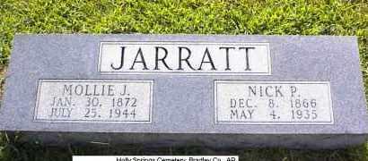 "JOHNSON JARRATT, MARY EMMA ""MOLLY"" - Bradley County, Arkansas | MARY EMMA ""MOLLY"" JOHNSON JARRATT - Arkansas Gravestone Photos"
