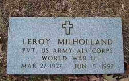 MILHOLLAND (VETERAN WWII), LEROY - Bradley County, Arkansas | LEROY MILHOLLAND (VETERAN WWII) - Arkansas Gravestone Photos