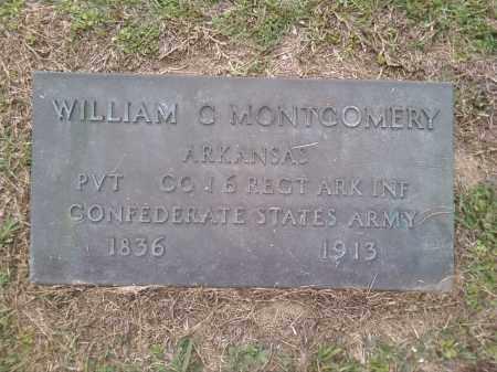 MONTGOMERY (VETERAN CSA), WILLIAM C. - Bradley County, Arkansas   WILLIAM C. MONTGOMERY (VETERAN CSA) - Arkansas Gravestone Photos