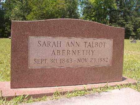 TALBOT ABERNETHY, SARAH ANN - Calhoun County, Arkansas   SARAH ANN TALBOT ABERNETHY - Arkansas Gravestone Photos