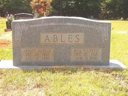PLUNKETT ABLES, MELL - Calhoun County, Arkansas | MELL PLUNKETT ABLES - Arkansas Gravestone Photos