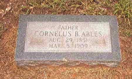 ABLES, CORNELUS B - Calhoun County, Arkansas | CORNELUS B ABLES - Arkansas Gravestone Photos