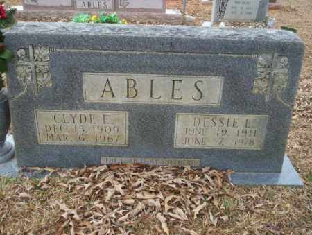 ABLES, CLYDE E - Calhoun County, Arkansas | CLYDE E ABLES - Arkansas Gravestone Photos