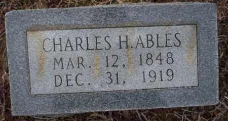 ABLES, CHARLES H - Calhoun County, Arkansas | CHARLES H ABLES - Arkansas Gravestone Photos