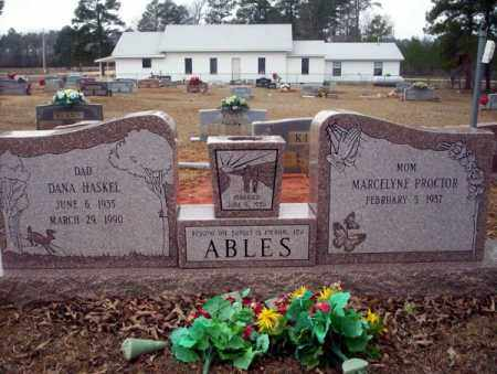 ABLES, DANA HASKEL - Calhoun County, Arkansas   DANA HASKEL ABLES - Arkansas Gravestone Photos