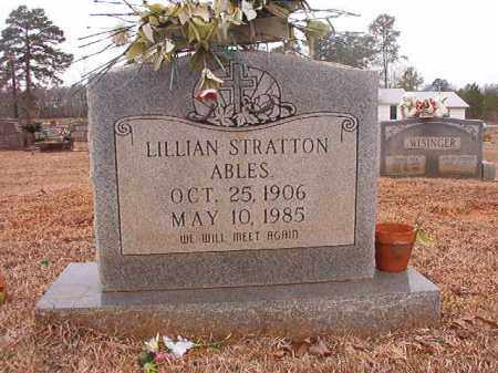 STRATTON ABLES, LILLIAN - Calhoun County, Arkansas | LILLIAN STRATTON ABLES - Arkansas Gravestone Photos