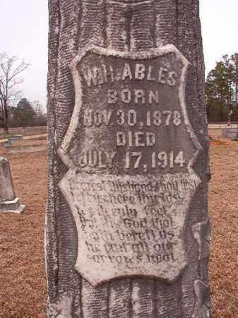 ABLES, W H - Calhoun County, Arkansas | W H ABLES - Arkansas Gravestone Photos