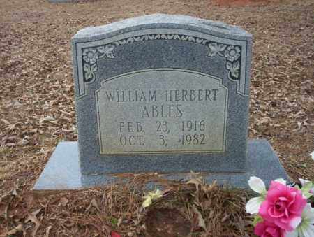 ABLES, WILLIAM HERBERT - Calhoun County, Arkansas | WILLIAM HERBERT ABLES - Arkansas Gravestone Photos