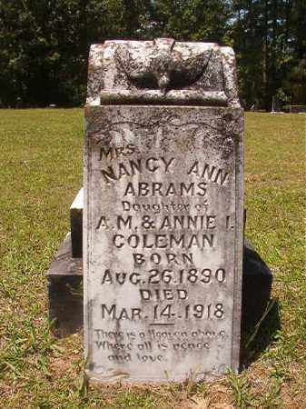 COLEMAN ABRAMS, NANCY ANN - Calhoun County, Arkansas | NANCY ANN COLEMAN ABRAMS - Arkansas Gravestone Photos