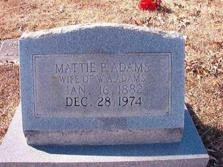 ADAMS, MATTIE P - Calhoun County, Arkansas   MATTIE P ADAMS - Arkansas Gravestone Photos