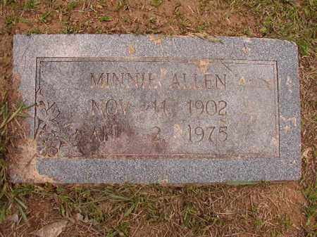 ALLEN, MINNIE - Calhoun County, Arkansas   MINNIE ALLEN - Arkansas Gravestone Photos