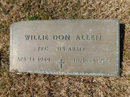 ALLEN (VETERAN), WILLIE DON - Calhoun County, Arkansas | WILLIE DON ALLEN (VETERAN) - Arkansas Gravestone Photos