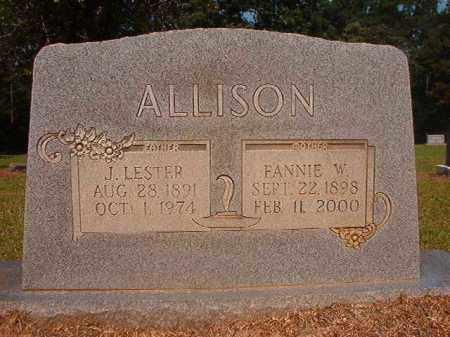 ALLISON, FANNIE - Calhoun County, Arkansas | FANNIE ALLISON - Arkansas Gravestone Photos