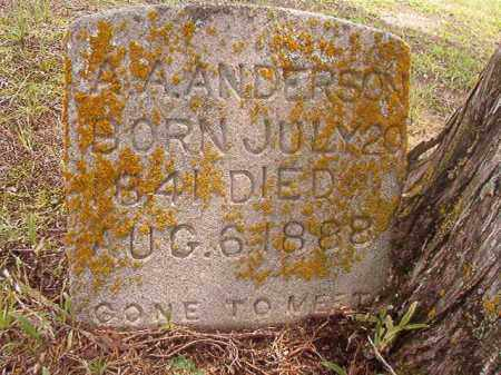 ANDERSON, A A - Calhoun County, Arkansas | A A ANDERSON - Arkansas Gravestone Photos