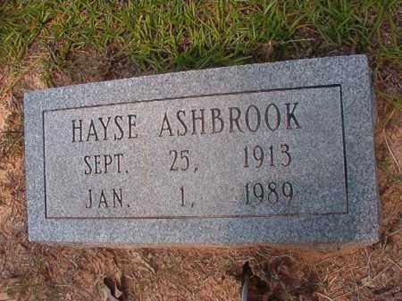 ASHBROOK, HAYSE - Calhoun County, Arkansas | HAYSE ASHBROOK - Arkansas Gravestone Photos