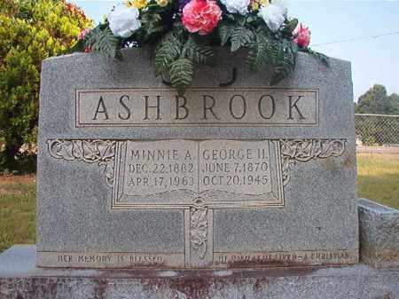 ASHBROOK, MINNIE A - Calhoun County, Arkansas   MINNIE A ASHBROOK - Arkansas Gravestone Photos