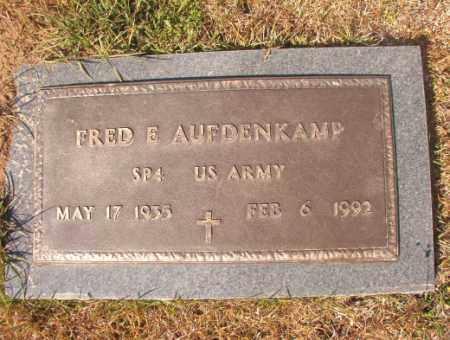 AUFDENKAMP (VETERAN), FRED E - Calhoun County, Arkansas   FRED E AUFDENKAMP (VETERAN) - Arkansas Gravestone Photos