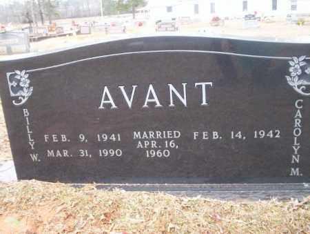 AVANT, BILLY W - Calhoun County, Arkansas | BILLY W AVANT - Arkansas Gravestone Photos