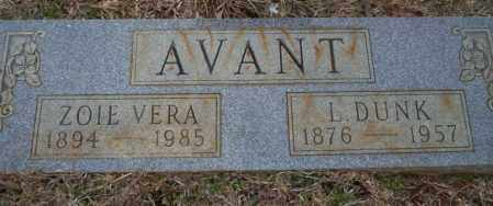 AVANT, L. DUNK - Calhoun County, Arkansas | L. DUNK AVANT - Arkansas Gravestone Photos