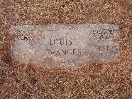 BAILEY, LOUISE FRANCES - Calhoun County, Arkansas | LOUISE FRANCES BAILEY - Arkansas Gravestone Photos