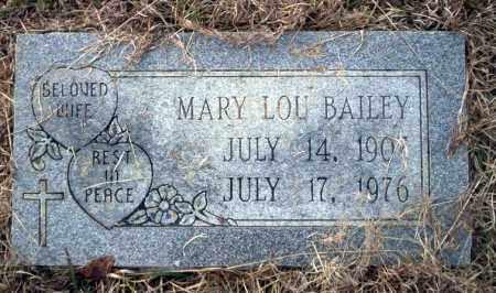 BAILEY, MARY LOU - Calhoun County, Arkansas | MARY LOU BAILEY - Arkansas Gravestone Photos