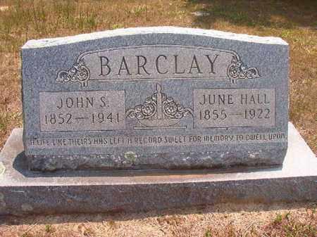 BARCLAY, JOHN S - Calhoun County, Arkansas | JOHN S BARCLAY - Arkansas Gravestone Photos